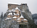 Famous Orava Castle In Winter Royalty Free Stock Images - 32563169