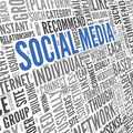 Social Media Conept In Word Tag Cloud Stock Photography - 32567022