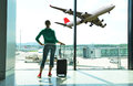 Girl At The Airport Royalty Free Stock Photos - 32567518