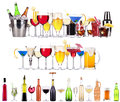 Set Of Different Alcoholic Drinks And Cocktails Stock Photo - 32567620