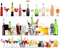 Set Of Different Alcoholic Drinks And Cocktails Stock Photography - 32567742