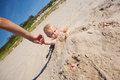 Child In The Sand Royalty Free Stock Photos - 32584318