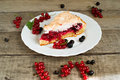 Piece Of Berry Pie, Red And Black Currants Stock Images - 32600534