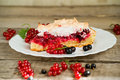 Piece Of Berry Pie, Red And Black Currants Stock Photography - 32600602