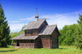 Wooden Church.Open-air Museum Of  Ancient Wooden Architecture. Russia. Great  Novgorod. Royalty Free Stock Photography - 32603307
