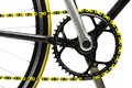 Yellow Bicycle Chain Royalty Free Stock Photo - 32604025