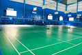 Empty Badminton Court Stock Images - 32605004