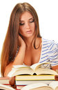Young Woman Reading A Book. Female Student Learning Royalty Free Stock Photography - 32611287