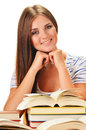 Young Woman Reading A Book. Female Student Learning Royalty Free Stock Image - 32611336