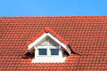 Red Roof On Blue Sky Stock Photos - 32611733