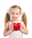 Girl Holding Heart Royalty Free Stock Photography - 32612417