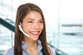 Headset Customer Service Woman At Call Center Stock Photography - 32613492