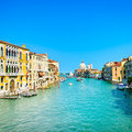 Venice Grand Canal, Santa Maria Della Salute Church Landmark. Italy Royalty Free Stock Photo - 32623495