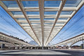 Modern Roof Construction At The Station Guillemins In Liège Stock Image - 32625461