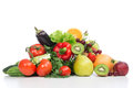 Diet Weight Loss Breakfast Concept Fruits And Vegetables Stock Photos - 32626433