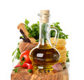 Olive Oil And Spices Royalty Free Stock Image - 32630136
