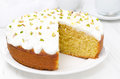 Orange Cake With Greek Yogurt, Honey And Pistachios In A Cut Stock Images - 32634544