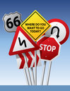 Vector Road Signs Royalty Free Stock Images - 32638189
