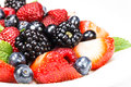 Mixed Berry Salad With Mint Royalty Free Stock Images - 32656039