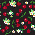 Seamless Cherry Pattern Royalty Free Stock Photo - 32658255