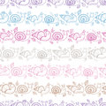 Cute Smiling Snails Stripes Seamless Pattern Stock Image - 32666711