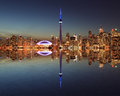 Toronto Skyline At Night With A Reflection Stock Image - 32669951