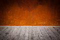 Rusty Metal Plate Background With Concrete Floor Stock Photo - 32670260