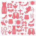 Wedding Icons Royalty Free Stock Images - 32672429