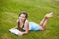 Girl On The Grass Stock Images - 32685434