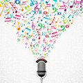 Music Notes Microphone Illustration Stock Image - 32689261