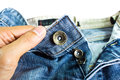 Blue Jeans Button Stock Images - 32689624