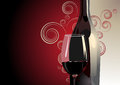 Bottle And Glass Of Red Wine Stock Image - 32702971