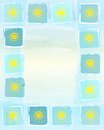 Summer Frame Background With Yellow Suns In Squares Royalty Free Stock Images - 32704909