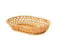 An Empty Wicker Dish On White Background Royalty Free Stock Image - 32713816