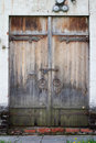 Old Aged Wooden Door With White Brick Wall In Novodevichy Conven Stock Photos - 32717533