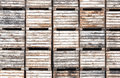 Apple Crates Stacked In Storage Royalty Free Stock Photography - 32730437