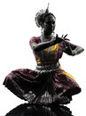 Indian Woman Dancer Dancing  Silhouette Royalty Free Stock Photos - 32737828