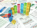 Business Concept. Three-dimensional Graph And Charts. Stock Photo - 32741850