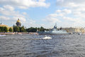 View Of The River Neva In St Petersburg Royalty Free Stock Photography - 32753027