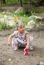Adorable Birthday Girl Child Year-old  In Park At Summer Stock Images - 32761544