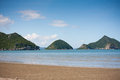 Beauty Beach With The Mountain And Blue Sky Stock Photography - 32762612