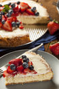 Homemade Strawberry And Blueberry Cheesecake Stock Photo - 32776370