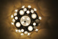 Antique Chandelier With Lights On Royalty Free Stock Photo - 32776885