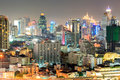 Bangkok Downtown In Business Area At Night Royalty Free Stock Images - 32779899