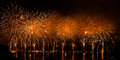 Fireworks Over The City Of Annecy In France For The Annecy Lake Royalty Free Stock Images - 32780319