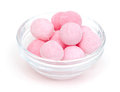 Pink Candies In A Glass Bowl Royalty Free Stock Photography - 32788917