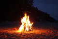 Campfire On The Beach Royalty Free Stock Images - 32789889