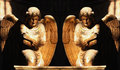 Figure Of A Gold Praying Angels Royalty Free Stock Images - 32799819