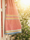 Towel Hanging On Fence. Royalty Free Stock Image - 3284576