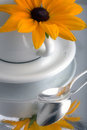 Daisy On Coffee Cup Royalty Free Stock Photography - 3287457
